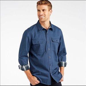 L.L.Bean Flannel Lined Hurricane Shirt